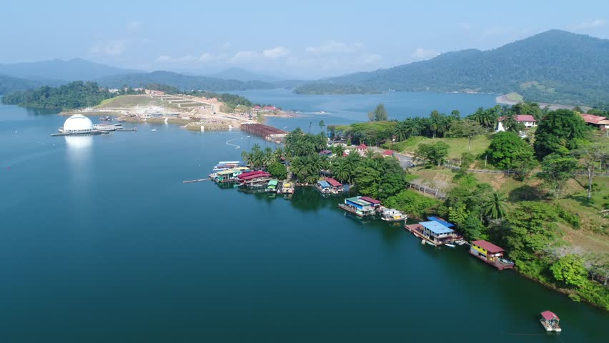 Aerial view of Kenyir Rainforest at Kenyir Lake, Terengganu, Malaysia