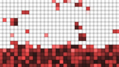 graphic background of stacked blocks in red color tones (FULL HD)