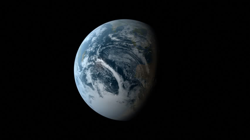 earth zoom in HD - fades to white