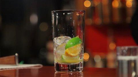 Cocktail  preparation (time-lapse)