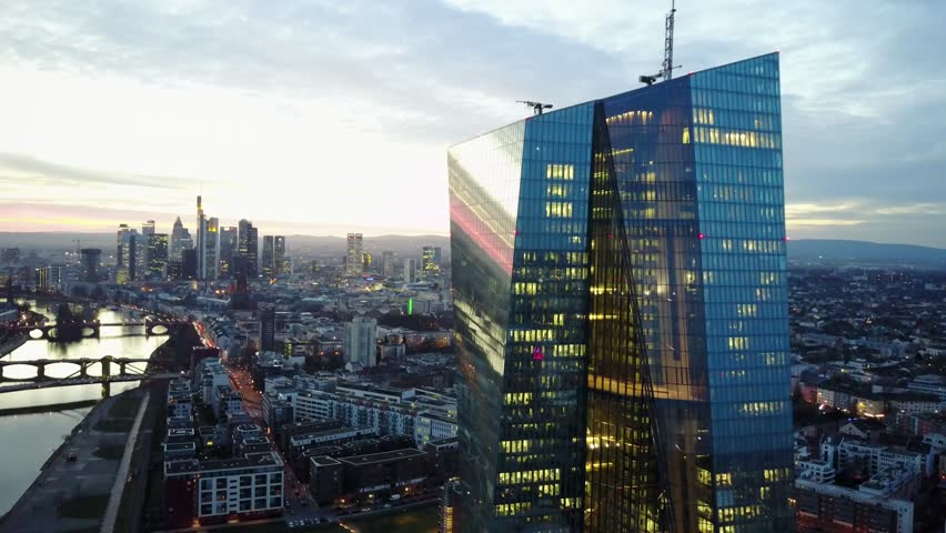 Frankfurt/Main Skyline Aerial Drone Shot   Shutterstock HD Video #27202657