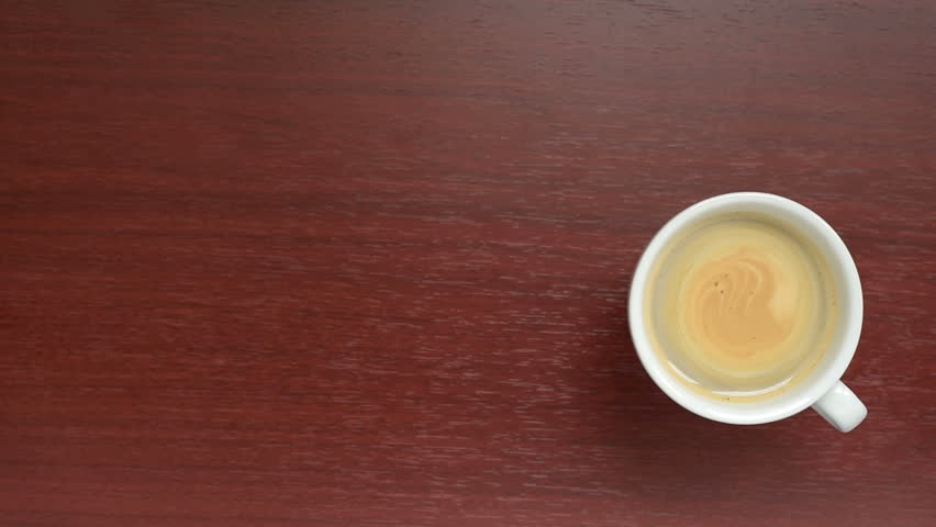 Coffee. Cup Coffee. A Cup Of Fragrant Coffee On A Wooden ...