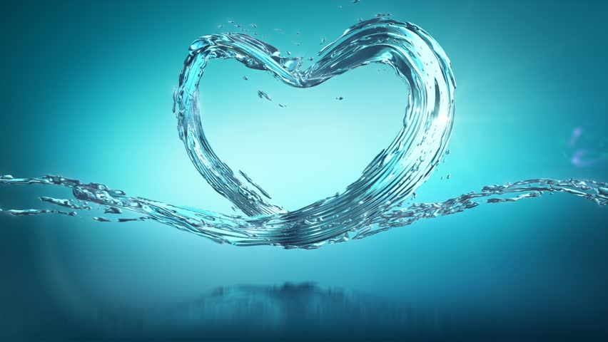 Water Splash of Heart, Liquid Stok Video (%100 Telifsiz) 27243538 ...
