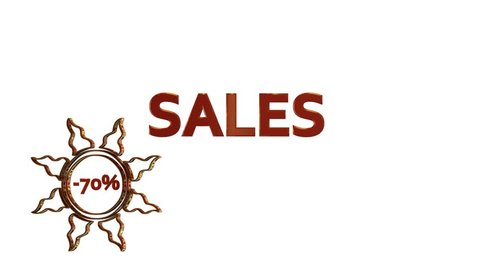 Red Sales design with discount numbers inside golden suns