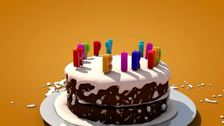 Happy Birthday cake | Shutterstock HD Video #2741726