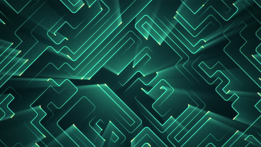 Abstract technologic background with stripes and particles. Animation of circuit electric signal with light shine. Animation of seamless loop. | Shutterstock HD Video #27421048
