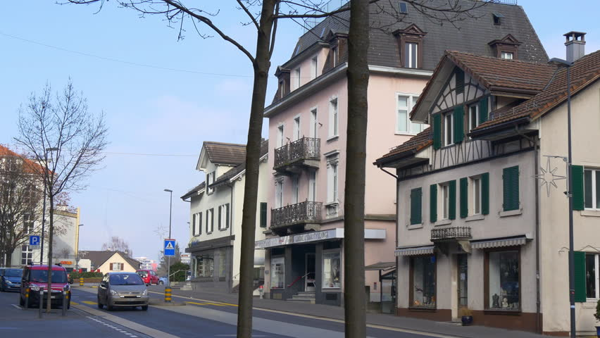 Lorch Germany Circa 2013 Germany House In Lorch Stock Footage