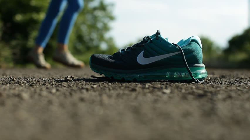 Ukraine - June 01, 2017. Product shoot of Nike men's running shoe. -