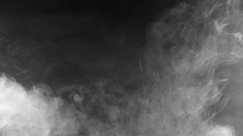 Beautiful storm cloud isolated on black background. Smoke from cigarettes. Vape. | Shutterstock HD Video #27461248