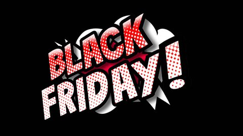 Black Friday expresion with alpha channel