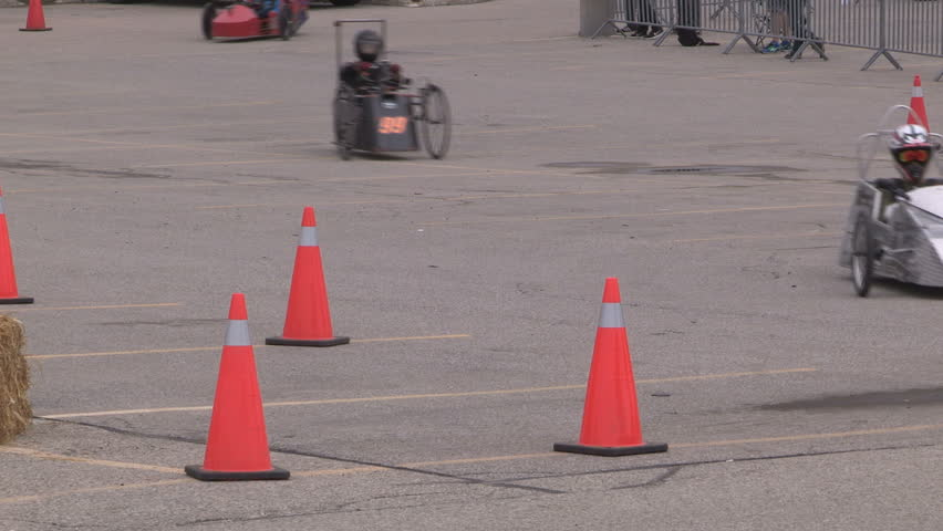 Waterloo Ontario Canada June Students Race Electric Cars On