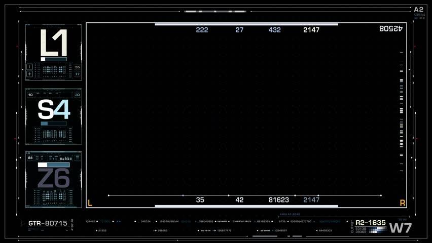 Hi-Tech Futuristic 4K Frame Background Hi-Tech 4K Background | Shutterstock HD Video #27541468
