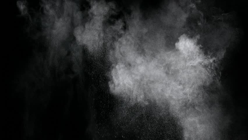 Isolated particle dust cloud floating on black background compositing asset