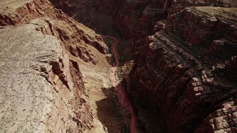 Grand Canyon Aerial 39 Navajo Nation filmed outside of National Park