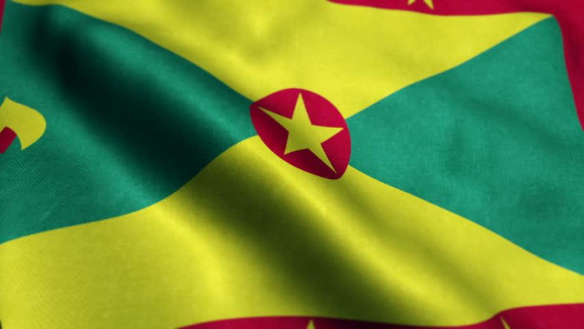 Flag of Grenada Beautiful 3d animation of Grenada flag in loop mode