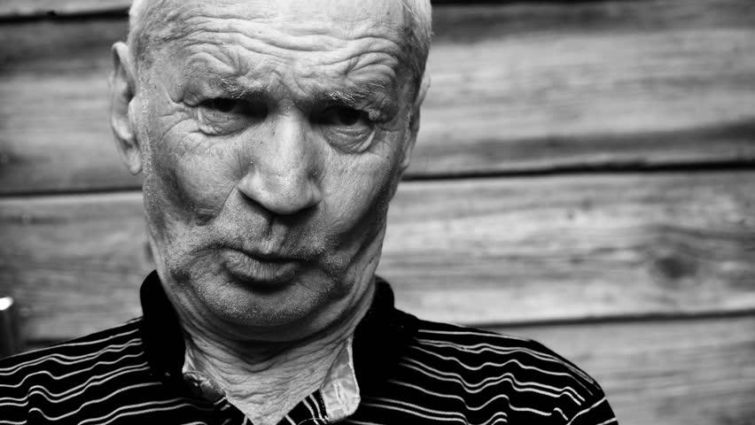 old man talking.mov - 4K stock video clip
