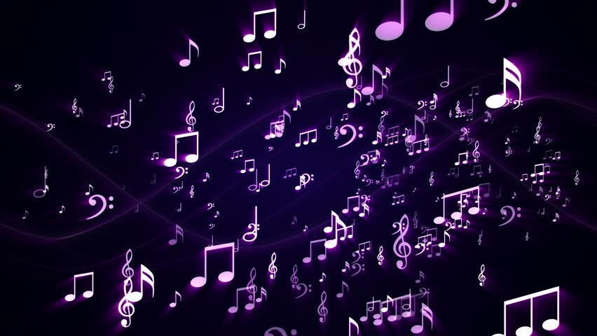 Music Notes Background Random, Animation, Rendering, Loop, 4k  | Shutterstock HD Video #27773578