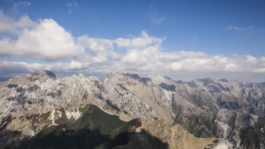 Apuan Alps, Tuscany. Trekking Trail Alpinism Climbing