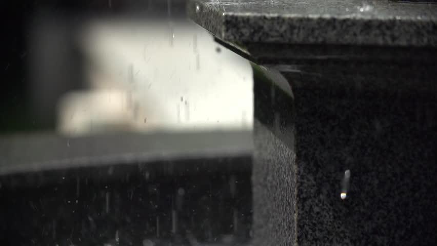 Falling waterdrops in slow motion | Shutterstock HD Video #27816886