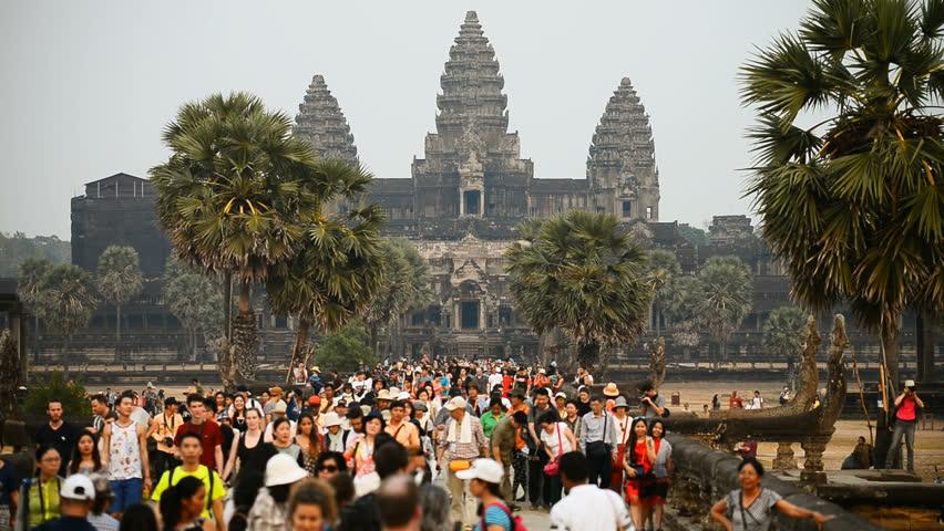 Siem Reap, Cambodia - Circa Stock Footage Video (100%