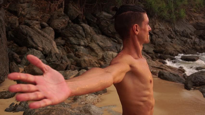 Male naked torso