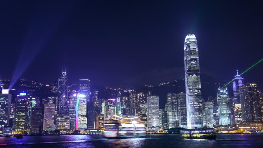 Night scene of hongkong   Shutterstock HD Video #2785066