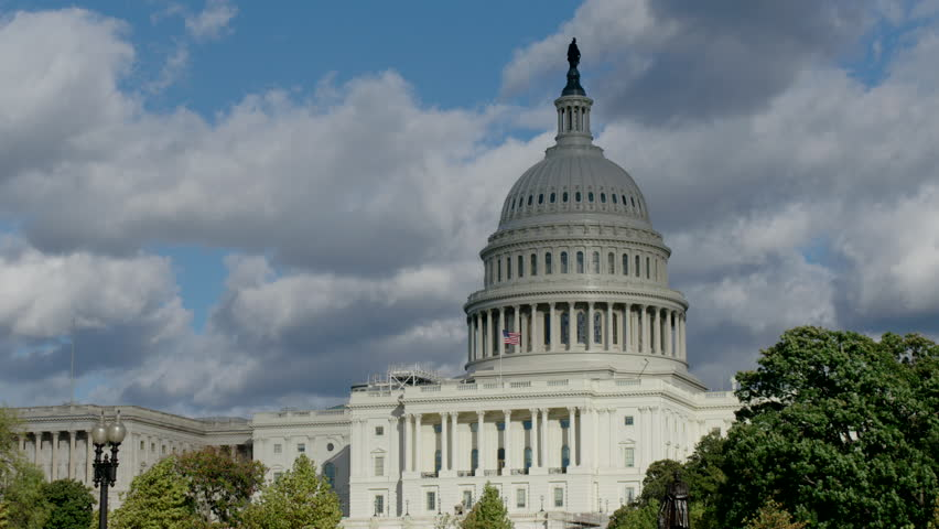 US Capitol Building, Washington D.C. with dramatic clouds and changing shadows | Shutterstock HD Video #27855388
