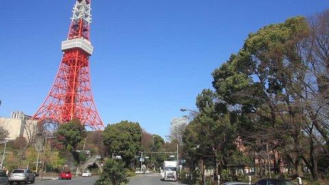 Tokyo tower wide shot 2017.03.08 in Tokyo