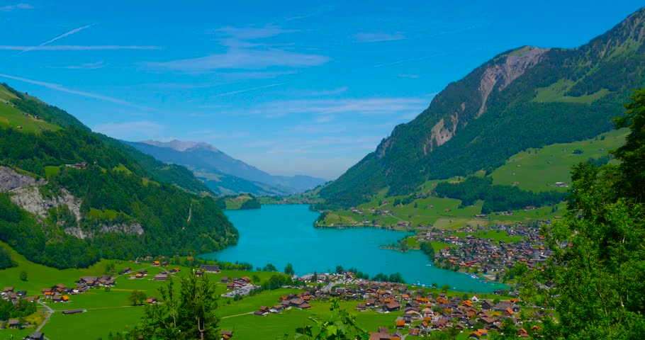 Switzerland June 11 2017 Lake Lungern Commune In Switzerland In