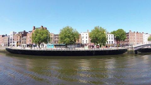 River Liffey in Dublin, Ireland/ River Liffey/ River Liffey in Dublin at sunny day.