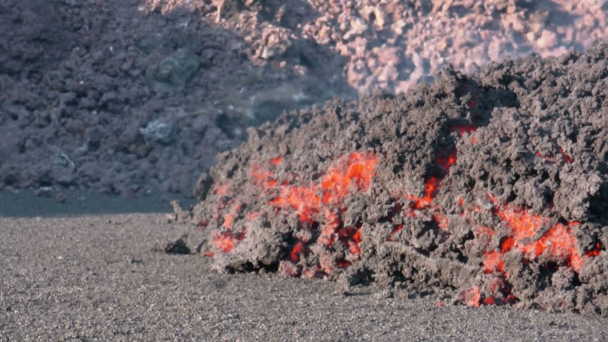 Volcanic Eruption in Iceland, Mars 2010. Footage taken in extreme conditions only a half mile from the crater during frequent gas explosions from advancing lava. A mountain is born.
