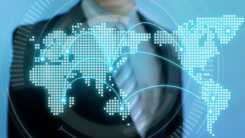 Video of businessman touch eco icon on blue background   Shutterstock HD Video #27928618