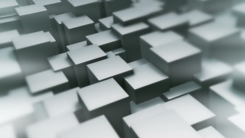 Background loop of waving cubes. Version B. Use this seamless loop made of cubes as a silky smooth abstract background.   Shutterstock HD Video #2794798