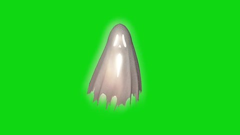 Ghost Poltergeist Spectre Apparition Green Screen 3D Rendering Animation