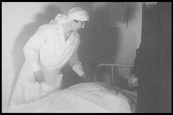 1920s: A surgeon rides through the Appalachians on horseback towards a hospital in the 1920s.