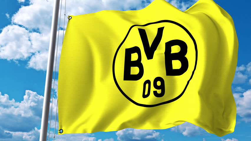 Borussia dortmund stock footage video shutterstock 3d animation waving flag with borussia dortmund football team logo 4k editorial clip voltagebd Images
