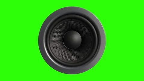 Speaker Stereo Music Green Screen 3D Rendering Animation