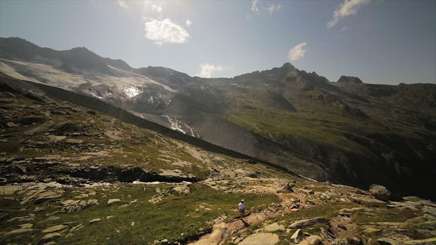 Trekking on high mountain | Shutterstock HD Video #2813938