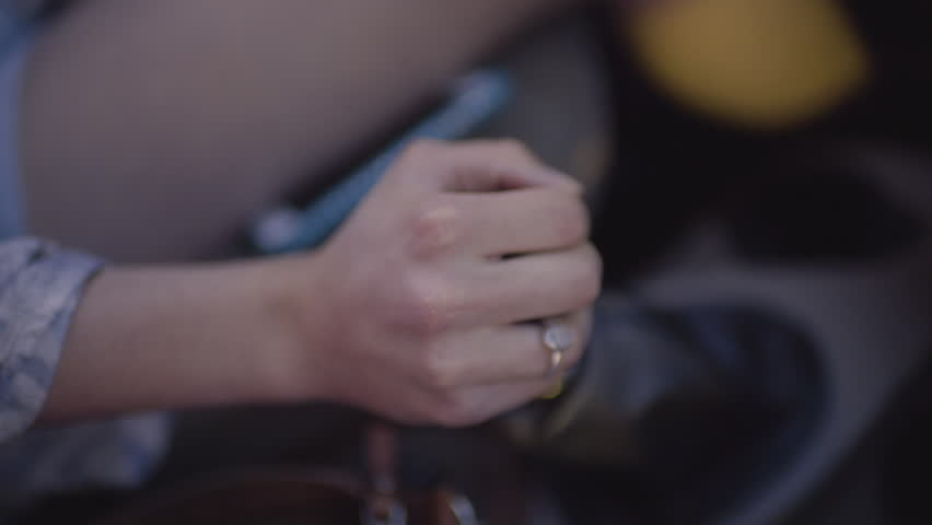Closeup Of Young Woman's Hand Shifting Gears, Slow Motion  | Shutterstock HD Video #28143688