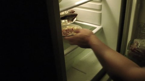 Open and close the refrigerator