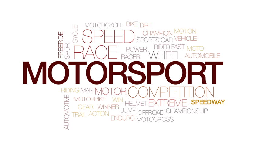 Motorsport Animated Word Cloud Text Design Animation Kinetic Typography