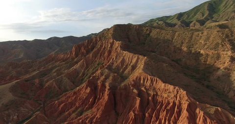 Red mountains, canyon fairy tale, Kyrgyzstan