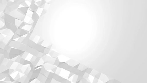Abstract black and white low poly waving 3D surface as cartoon background. Grey abstract geometric vibrating environment or pulsating background in cartoon low poly 3D design 1. Free space