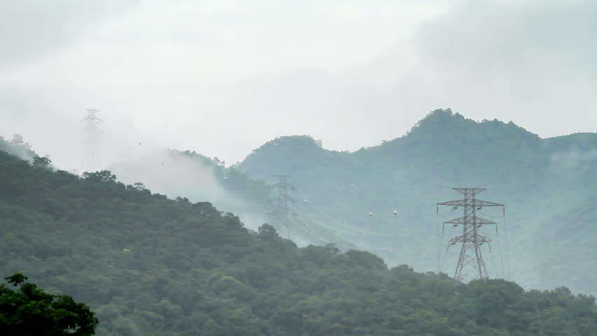 Power transmission supply grids after the Rain