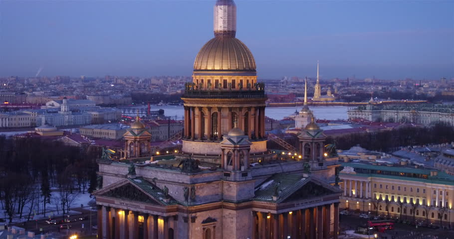Saint Isaac cathedral or Isaakievskiy Sobor. Russia. | Shutterstock HD Video #28273888