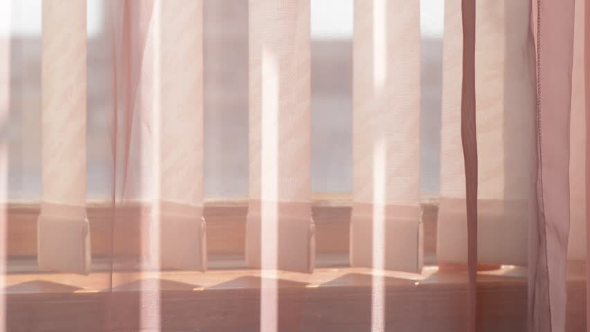 Curtains and fabric blinds moving in the wind | Shutterstock HD Video #28328038