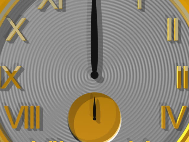 Computer-generated animation depicting a pocket watch