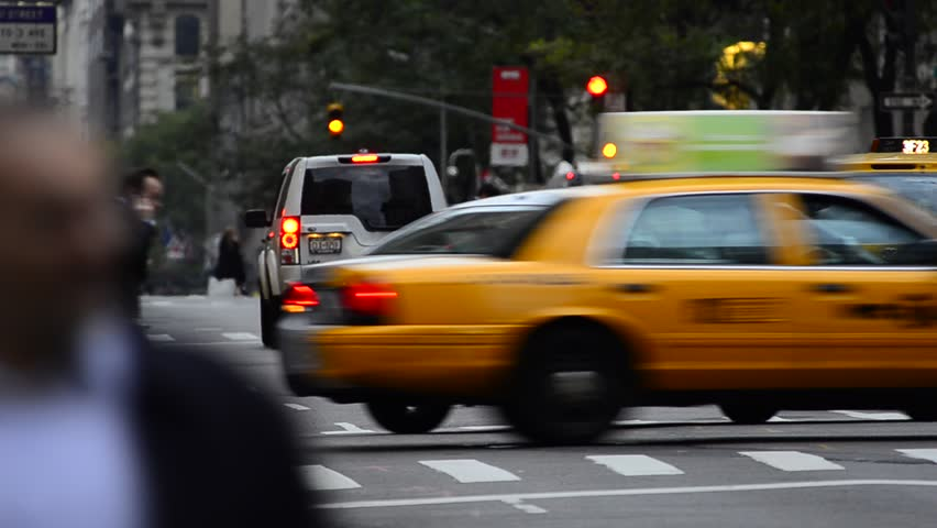 USA, New York, 5th Avenue, rush hour traffic, Taxis | Shutterstock HD Video #28422718