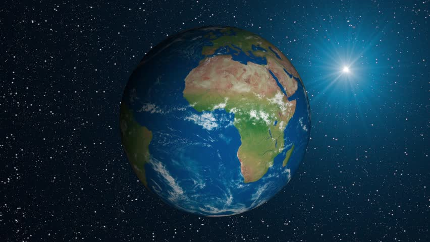 Earth 3 Dimensional Globe Green Stock Footage Video (100