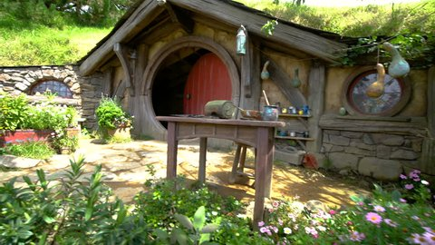 Hobbiton Village, Matamata, New Zealand - 11 Dec 2016: Hobbiton Village is the site created for filming Hollywood Movie THE HOBBITS and THE LORD OF THE RINGS in New Zealand.